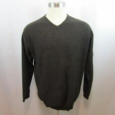 Tommy Bahama Men's Large Brown V-Neck Sweater Long Sleeves