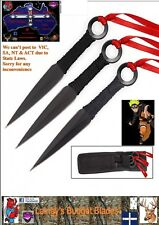 Set of 3 Defender Naruto Ninja Kunai Throwing Knives.