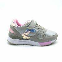 Scarpe da ginnastica bambina sneakers sportive bimba luminose argento canguro