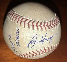 Carlos Martinez Game Used Signed 574th Strikeout Baseball St. Louis Cardinals