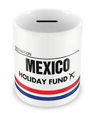 MEXICO Holiday Fund Money Box - Gift Idea Travelling Savings Piggy Bank