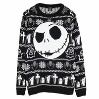 Disney The Nightmare Before Christmas Jack Face Men's Knitted Jumper | Official