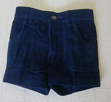 Vintage Boys Shorts - Age 10 Years - Navy Needlecord - Zip Front - New