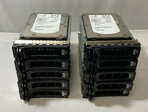 10 x Dell SAS Hard Drive 146GB 15K RPM With caddy Dell P/N RY491 / TK237 / TN937