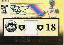 2010 TOPPS TRIBUTE DARRYL STRAWBERRY AUTO JERSEY 45/99 NEW YORK METS