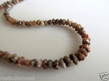 """40.01ct 4-5 MM Natural Red Rough Diamond Beads Loose Diamond Bead 16"""" Necklace"""