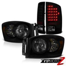 2007-2009 Dodge Ram 2500 3.7L Smoke Tinted Headlamps Rear Brake Lights LED SMD