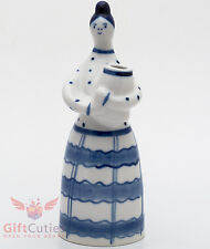 Gzhel Porcelain flowers vase figurine souvenir Hand-painted