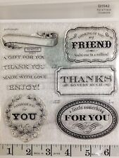 Close To My Heart D1542 FOR A FRIEND Cricut Art Philosophy Labels Stamp Set NIP