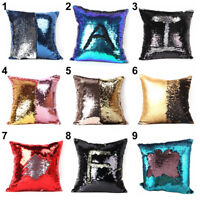 Sequin Swipe Glitter Sofa Cushion Throw Pillow Cover Case Pillowcase Shinny NEW