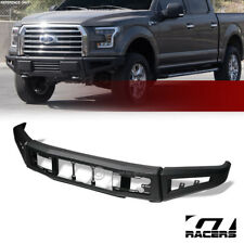 For 2015-2017 Ford F150 Black Raptor Style Modular Full Width Steel Front Bumper