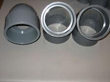 "(1) Nibco 806-040 4"" PVC Sch 80 90° Elbow (2) Charlotte 817-040 4"" PVC 45° Elbow"