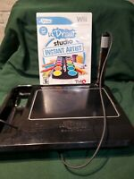 uDraw Game tablet with uDraw Studio: Instant Artist Black Nintendo Wii Tested