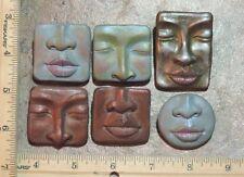 push MOLD lot abstract faces Lori Barbee original designs polymer clay