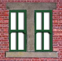 LC13 - Laser cut Double Tall Sash Windows O scale pk of 6 Smart Models