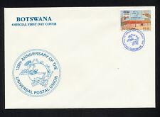 (SBAZ 124)  Botswana 1999 FDC UPU 125th Anniversary