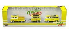 M2 HAULERS MELLO YELLO 1960 VW DOUBLE CAB USA MODEL & 1960 VW MICRO BUS