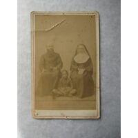 PHOTOGRAPHIE ANCIENNE : PRÊTRE, RELIGIEUSE MISSIONNAIRES - AFRIQUE  - XIXè siècl