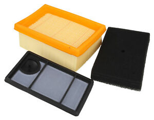 Air Filter Set Of 3 Service Filters Fits STIHL TS400 Pre, Main, Foam
