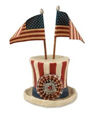 "Bethany Lowe ""Americana Hat with Flags""  Paper Mache' Figure (TD4018)"