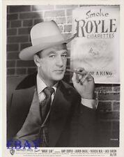 Gary Cooper sexy w/cigar VINTAGE Photo Bright Leaf