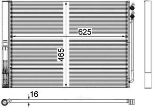 A/C Condenser-Turbo Behr Hella Service 351309141