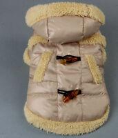 sehr warme Hundejacke Winterjacke Steppjacke mit Kapuze+Fell Hund Mantel S