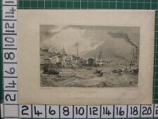 1831 datato antico stampa ~ vista di Gravesend ~ Kent