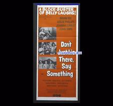 Don't Just Lie There Say Something 1973 British Erotic Comedy Daybill Orig Aust