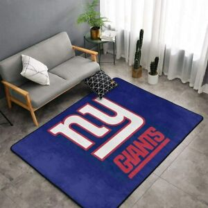 New York Giants Fluffy Carpets Anti-Skid Area Rugs Living Room Bedroom Floor Mat