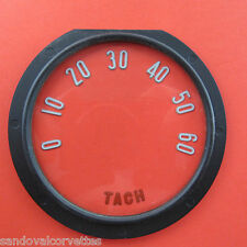 1955-1957 Corvette Tach Face Lens with Numbers 1956 55 56 57