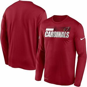 Arizona Cardinals Nike Youth Boys Sideline Impact DRI-FIT Long Sleeve Shirt