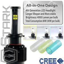80W CREE 4th Gen LED Headlight Kit 7200LM Color Change 5k 6k 8k Bulbs - H7 (A)