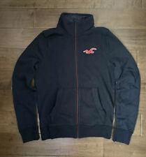 New Men's Hollister Full-zip Light Jacket, Dark Navy Blue, Size M