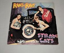 "THE STRAY CATS signed autographed ""RANT N' RAVE"" LP RECORD BECKETT LOA SETZER"