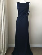 HOUSE OF FRAZER NAVY SEQUIN MAXI DRESS PROM BRIDESMAID CRUISE BALL SIZE 8 BNWT