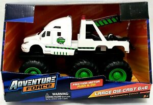 ADVENTURE FORCE - 6x6 TOW TRUCK - LARGE DIECAST FRICTION MOTOR PUSH & GO