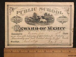 REWARD OF MERIT Public School 1870    #826