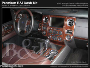 WOOD GRAIN DASH KIT FOR FORD EXPEDITION FITS (WITHOUT OEM WOOD) 2015-2017