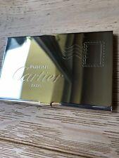 Porte cartes de visite Cartier Parfums Métal Argenté Neuf