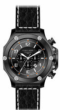 LUXURY CHRONOGRAPH Cavadini Watch Extravagan Ion Black Plated New Collection