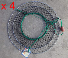 Crab Net - Wire  Base - 2 Ring - ( x 4 Nets)