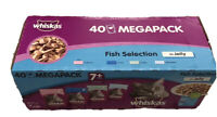 Whiskas 7 Plus Cat Pouches Fish Selection in Jelly, 100g X 40