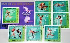 ADEN MAHRA 1968 99-05 B Block 11 B Olympics Olympia German Medal Winner MNH