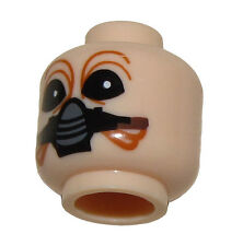 LEGO NEW MINIFIGURE HEAD STAR WARS FLESH NUMB WITH MECHANICAL MASK MINIFIG FACE