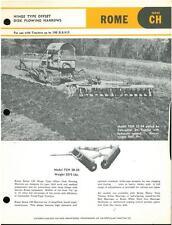 Offset ROMA DISCO plowing Harrows per Caterpillar TRATTORI BROCHURE-IB3