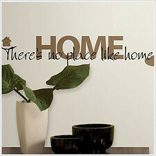 Quote: THERE'S NO PLACE LIKE HOME wall stickers room decor house