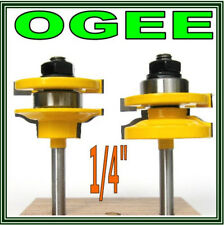 "2 pc 1/4"" Shank Roman Ogee Rail & Stile Router Bit Set sct-888"