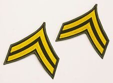 US ARMY 'CORPORAL' Rank Stripes PAIR of Iron-On Patches, Iron-On