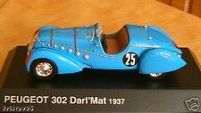 PEUGEOT 302 DARL'MAT 1937 NOREV 1/43 SKY BLUE HACHETTE